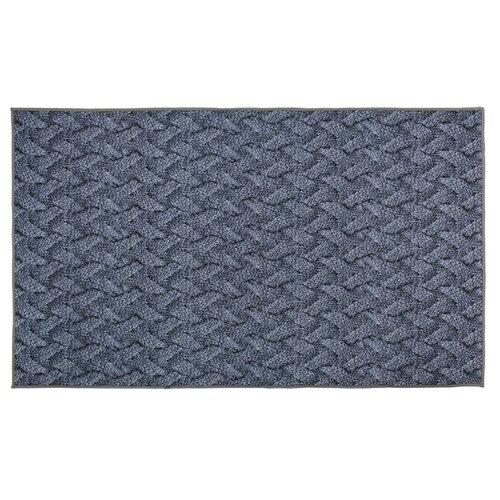 Придверный коврик VORTEX Velur Крупная вязка, размер: 1.2х0.7 м, серый