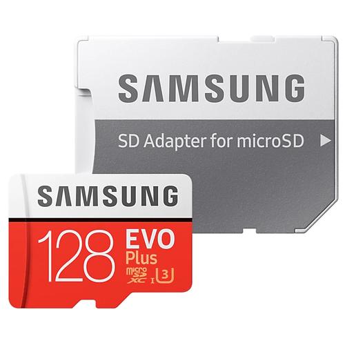 Фото - Карта памяти Samsung microSDXC EVO Plus UHS-I (U3) 128 GB, чтение: 100 MB/s, запись: 60 MB/s, адаптер на SD карта памяти samsung 128 gb microsdxc class 10 uhs i evo mb mc 128 ga ru