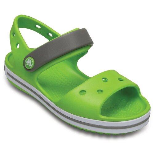Сандалии Crocs Crocband Sandal размер 32-33(J1/3), 3K9 Green шлепанцы crocs crocband flip размер 36 37 m4 w6 navy