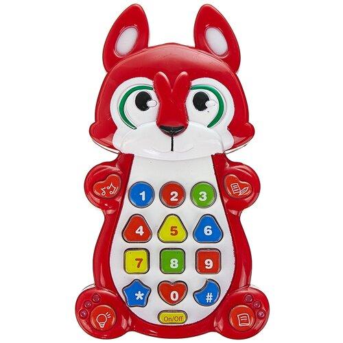 Интерактивная развивающая игрушка Play Smart Детский смартфон 7612, красный