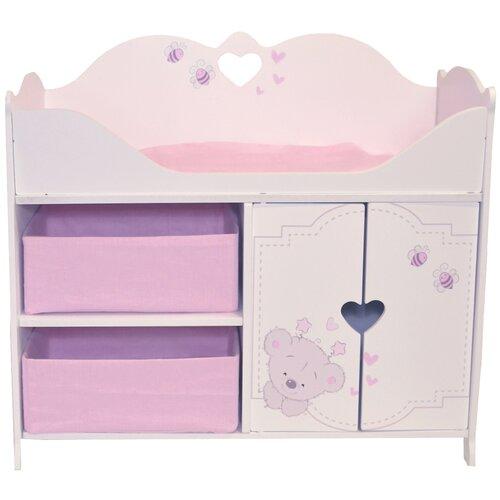 Купить PAREMO Кроватка-шкаф для кукол Рони Мини стиль 1 (PRT220-01M) белый/розовый, Мебель для кукол