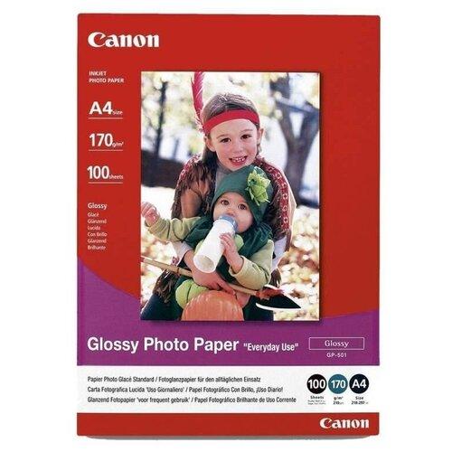 Фото - Бумага Canon А4 Everyday Use Glossy GP-501 170 г/м² 100 листов, белый бумага canon zink zp 2030 3214c002 20 лист белый