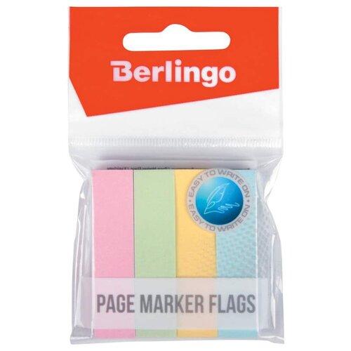 Купить Berlingo Флажки-закладки Berlingo 12х50 мм, 100 л х 4 пастельных цвета (LSz_50125) ассорти, Бумага для заметок