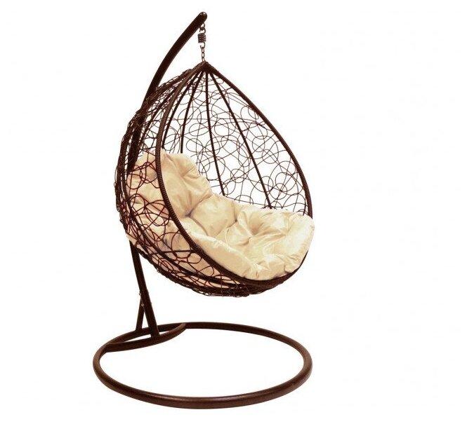 Подвесное кресло-кокон M-GROUP Капля с ротангом — купить по выгодной цене на Яндекс.Маркете