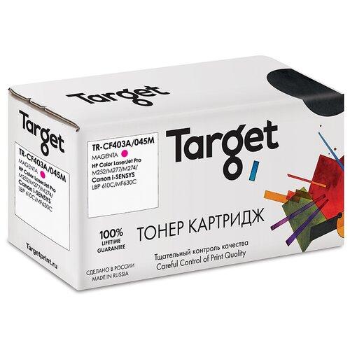 Фото - Тонер-картридж Target CF403A/045M, пурпурный, для лазерного принтера, совместимый тонер картридж target cf543a пурпурный для лазерного принтера совместимый