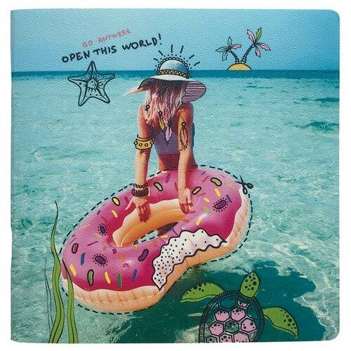 Купить Альбом д/рис.BeSmart скрепка мягк перепл 20л 170х170мм Discovery пляж N1837 2 штуки, Be Smart, Альбомы для рисования