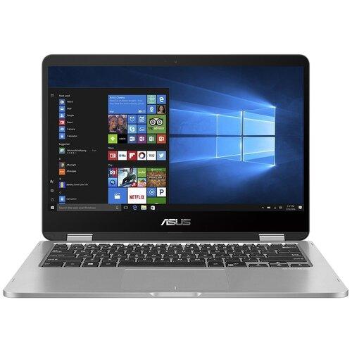 14 Ноутбук ASUS VivoBook Flip 14 TP401MA-EC296T (1920x1080, Intel Pentium Silver 1.1 ГГц, RAM 4 ГБ, SSD 128 ГБ, Win10 Home), 90NB0IV1-M08990, серебристый ноутбук asus vivobook flip 14 tp412fa 90nb0n31 m02610