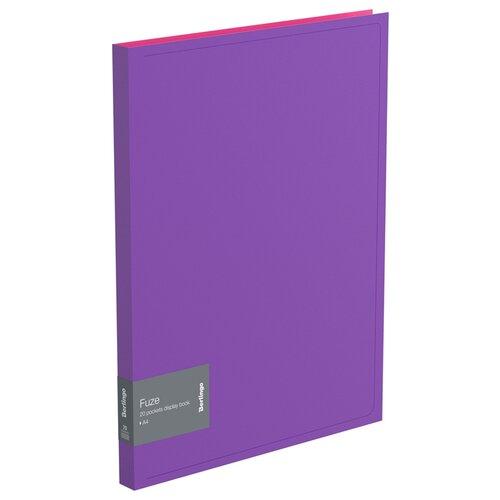 Фото - Berlingo Папка с 20 вкладышами Fuze А4, 14 мм, 600 мкм, пластик фиолетовый berlingo папка с 20 вкладышами neon a4 14 мм 700 мкм пластик зеленый