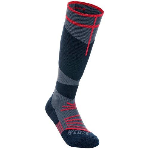 Детские горнолыжные носки 500, размер: 32/34, цвет: Темно-Синий WEDZE Х Декатлон эвантюэль носки детские эвантюэль без рисунка темно синий 8