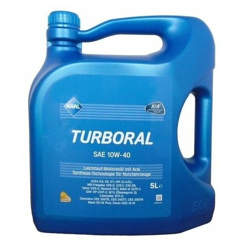 Полусинтетическое моторное масло ARAL Turboral SAE 10W-40, 5 л по цене 3 389