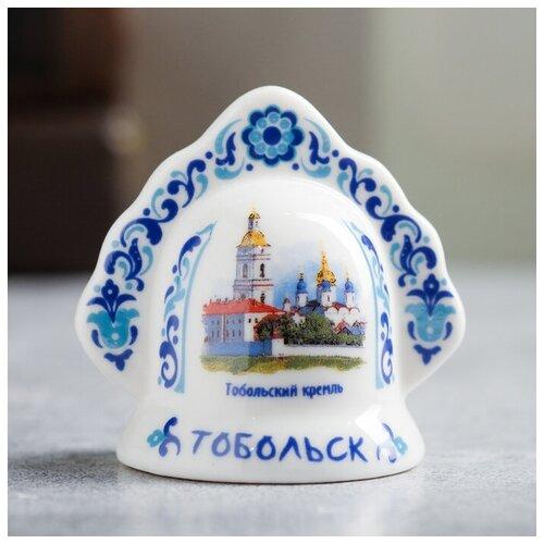 Колокольчик в виде кокошника «Тобольск» (Тобольский Кремль), 5.5 х 5.5 см 3281462