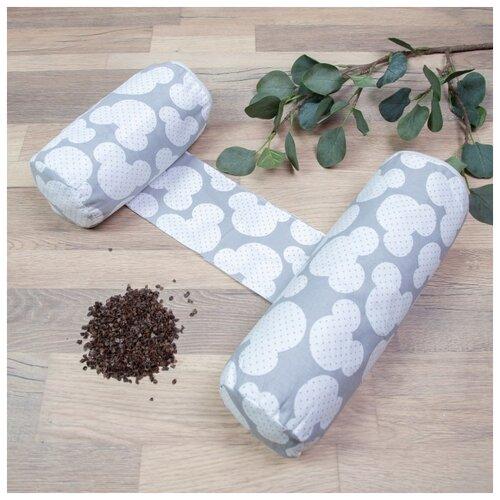 Купить Позиционер для сна Amarobaby Nature Anatomy Мышонок серый, Покрывала, подушки, одеяла