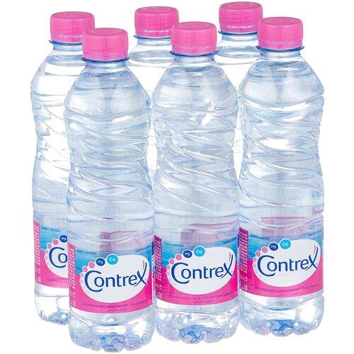 Минеральная вода Contrex негазированная, ПЭТ, 6 шт. по 0.5 л