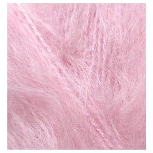 Купить Пряжа для вязания Ализе Mohair classic NEW (25% мохер, 24% шерсть, 51% акрил) 5х100г/200м цв.032 св.розовый, Alize
