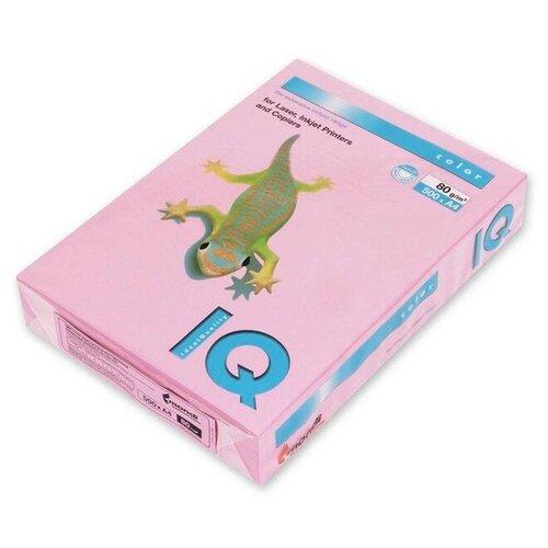 Фото - Бумага IQ Color A4 80 г/м² 500 лист., розовый фламинго OPI74 бумага iq color a4 80 г м² 250 лист 5 цв х 50 л тренд rb03