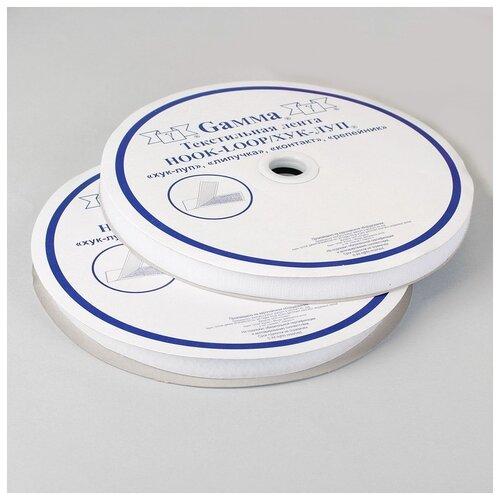 Купить Липучка 20мм*25±1м белый LG Gamma 1183706, Технические ленты и тесьма
