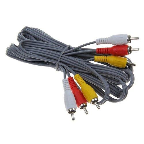 Кабель аудио/видео Smartbuy KA233 3xRCA(m)-3xRCA(m) 3 м серый 1205185