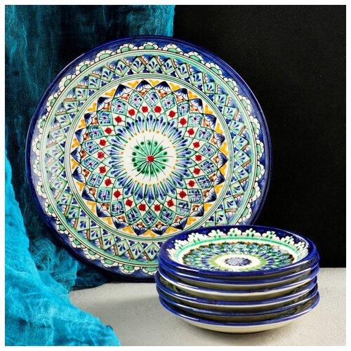 Набор для блинов Риштан, 7 предметов: тарелка 25см, 6 тарелок 15см 4780456