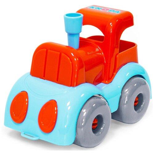 Машинка Knopa Евро (86242), 22 см, голубой/красный