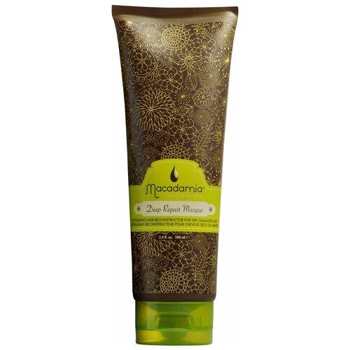 Macadamia Natural Oil Маска восстанавливающая интенсивного действия с маслом арганы и макадамии для волос, 100 мл недорого