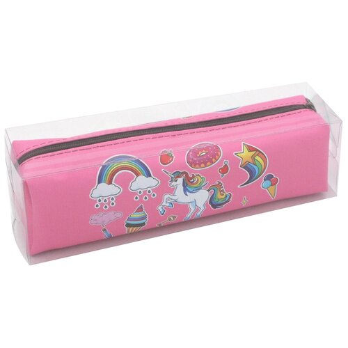 ArtSpace Пенал мягкий Unicorn, розовый недорого