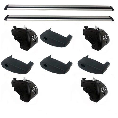комплект дуг и опор Евродеталь на интегрированные рейлинги для BMW X5 (F15) (2014-н.в.), крыло, 1.25 м серебристый комплект дуг и опор евродеталь на интегрированные рейлинги для opel mokka 2013 н в аэро с замком 1 1 м серый