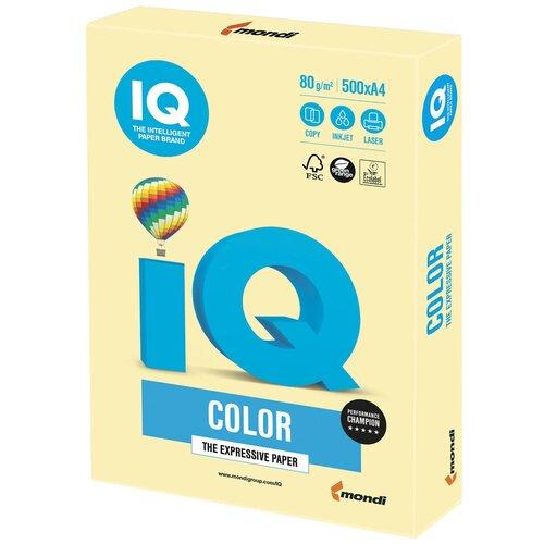 Фото - Бумага IQ Color A4 80 г/м² 500 лист., желтый YE23 бумага iq color a4 80 г м² 250 лист 5 цв х 50 л тренд rb03