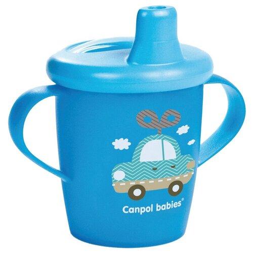 Фото - Поильник-непроливайка Canpol Babies 31/200, 250 мл голубой/машина поильник непроливайка canpol babies 56 512 320 мл бирюзовый