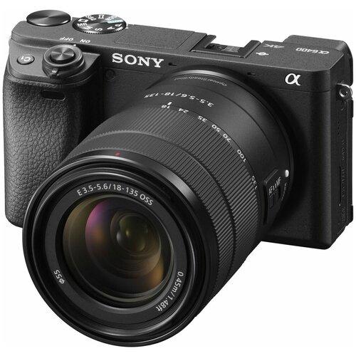 Фото - Фотоаппарат Sony Alpha ILCE-6400 Kit черный E 18-135mm F3.5-5.6 OSS цифровой фотоаппарат sony alpha ilce 7m2 body черный