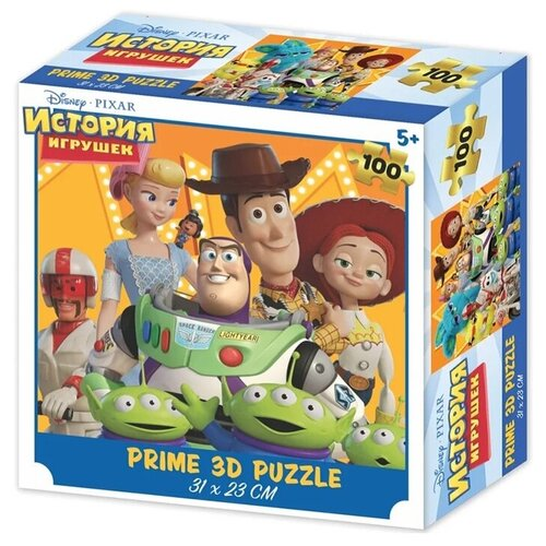Пазл Prime 3D История Игрушек (13836-SBM), 100 дет. prime 3d puzzle disney – история игрушек 2 100 элементов