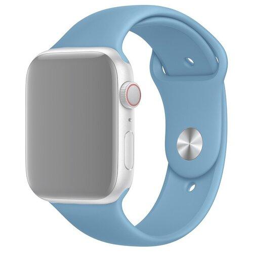 Ремешок для Apple Watch 1-6/SE силиконовый 42/44 мм InnoZone - Васильковый (APWTSI42-53)