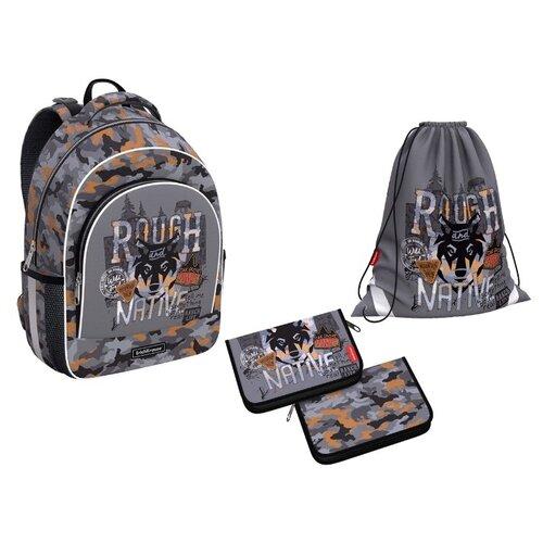 Ученический рюкзак ErichKrause® ErgoLine® 15L Rough Native с наполнением 49466/1 недорого