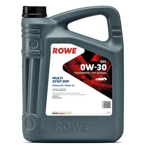 Полусинтетическое моторное масло ROWE Hightec Multi Synt DPF SAE 0W-30 5 л