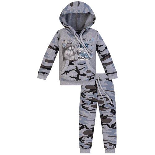 Купить Спортивный костюм Утенок размер 116, серый меланж/хаски, Спортивные костюмы