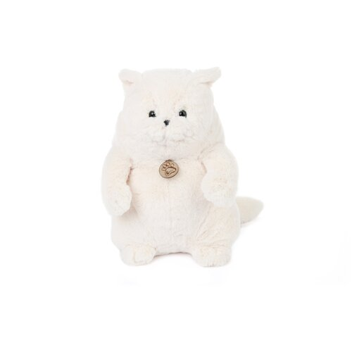 Купить Мягкая игрушка Толстый кот 20см белый, Lapkin, Мягкие игрушки