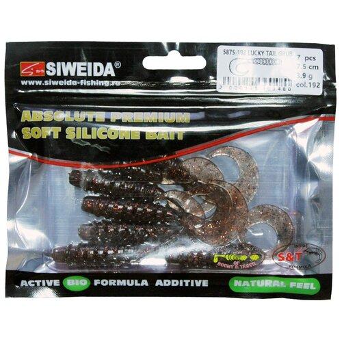 Набор приманок резина SIWEIDA Lucky Tail Grub твистер цв. 192 7 шт.