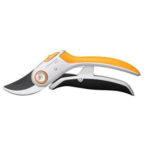Секатор FISKARS Plus PowerLever P751 серебристый/черный/оранжевый недорого