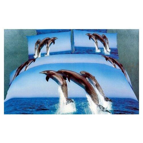 Постельное белье евростандарт Tango TS03-236, сатин, 50 х 70 см синий