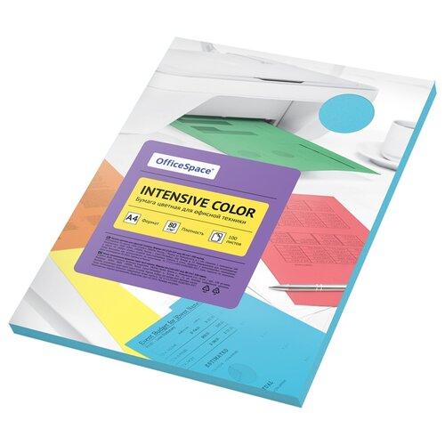 Бумага OfficeSpace A4 Intensive Color 80 г/м2 100 листов, голубой