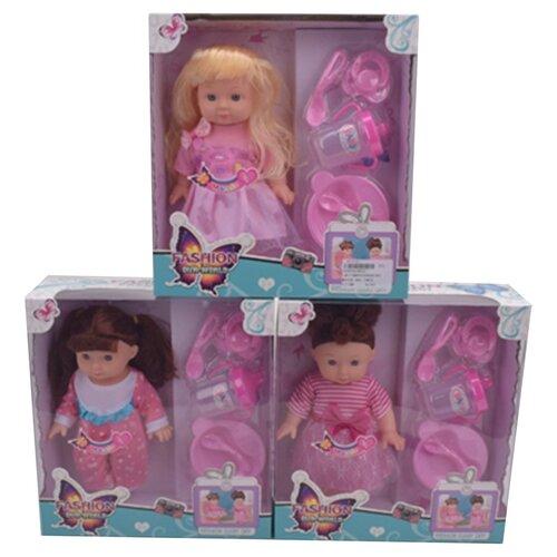 Купить Игровой набор Маленькая мама , звук, в комплекте кукла 24см, предм. 5шт, эл.пит. AG13х3шт вх. в компл. Shantoy Gepay 8003, Наша игрушка, Куклы и пупсы