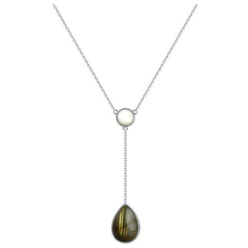 SOKOLOV Колье из серебра с полудрагоценными вставками 83070017, 40 см, 6.54 г