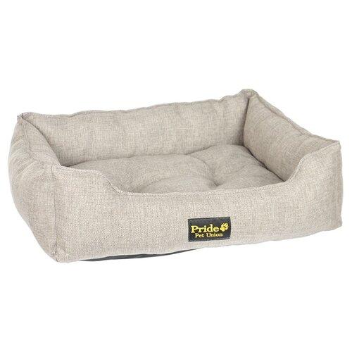 Фото - Лежак для собак и кошек PRIDE Прованс 60х50х18 см песочный лежак для животных сolour pride прованс 70х60х23см песочный