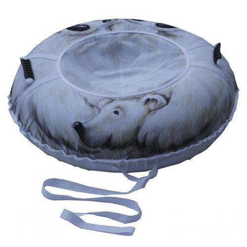 Купить Тюбинг Митек Белый медведь без камеры 110 см белый, Тюбинги