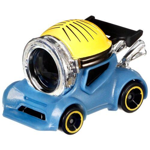 cars машинка гоняй и сталкивайся круз рамирес Машинка Hot Wheels Character Cars Minions Stuart (GMH74/GMH79) 1:64, голубой/желтый