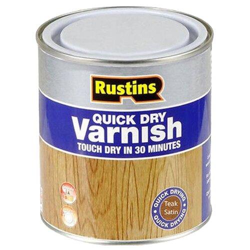 Лак Rustins Quick Dry Coloured Varnish полуматовый водорастворимый тик 0.25 л