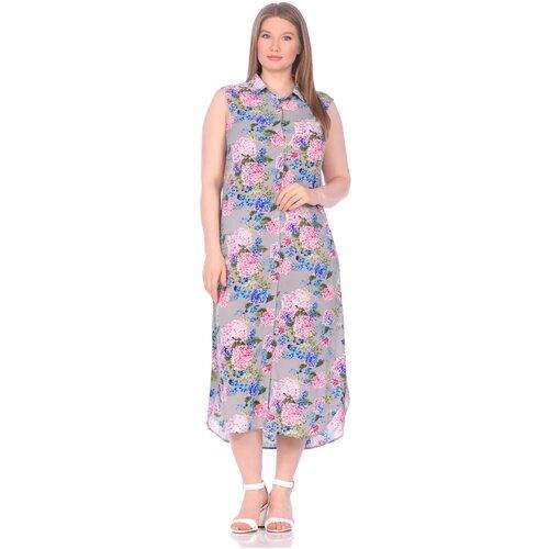 Фото - Платье - туника из вискозы Sunrise (PM France 221) размер L (48), сирень платье туника panicale платье туника