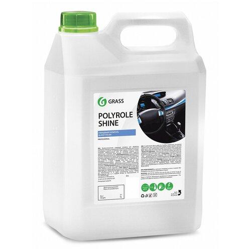 Фото - Grass Полироль для кожи, резины и пластика автомобиля Polyrole Shine (341005), 5 л grass полироль очиститель пластика салона автомобиля 120115 0 5 л