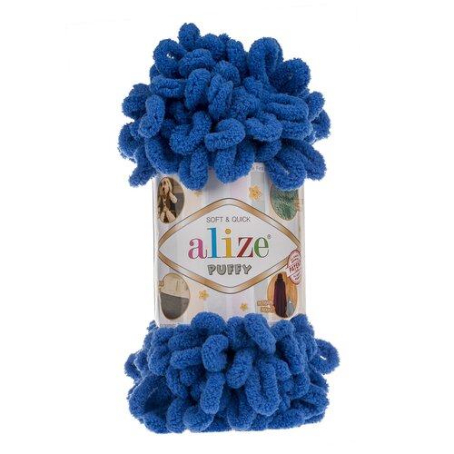 Купить Пряжа для вязания Alize 'Puffy' 100г 9м (100% микрополиэстер) (141 синий), 5 мотков