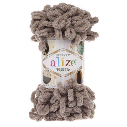 Купить Пряжа для вязания Alize 'Puffy' 100г 9м (100% микрополиэстер) (530 норка), 5 мотков