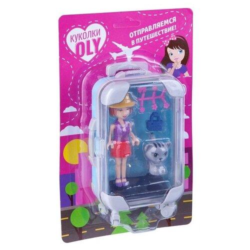 Фото - Набор игровой Bondibon куколка «OLY» с домашним питомцем и аксессуары, голубой чемодан, BLISTER набор игровой bondibon кукольный уголок гостиная и куколка oly
